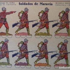 Coleccionismo Recortables: CONSTRUCCIONES EL NIÑO EDICIONES EL ARTISTA COLECCION Nº5 SOLDADOS DE MARAVIA Nº 63 24X17,5 CM. Lote 159741670