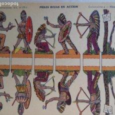 Coleccionismo Recortables: CONSTRUCCIONES EL NIÑO COLECCION 5 PIELES ROJAS EN ACCION Nº 38 24X17,5 CM. Lote 159743674