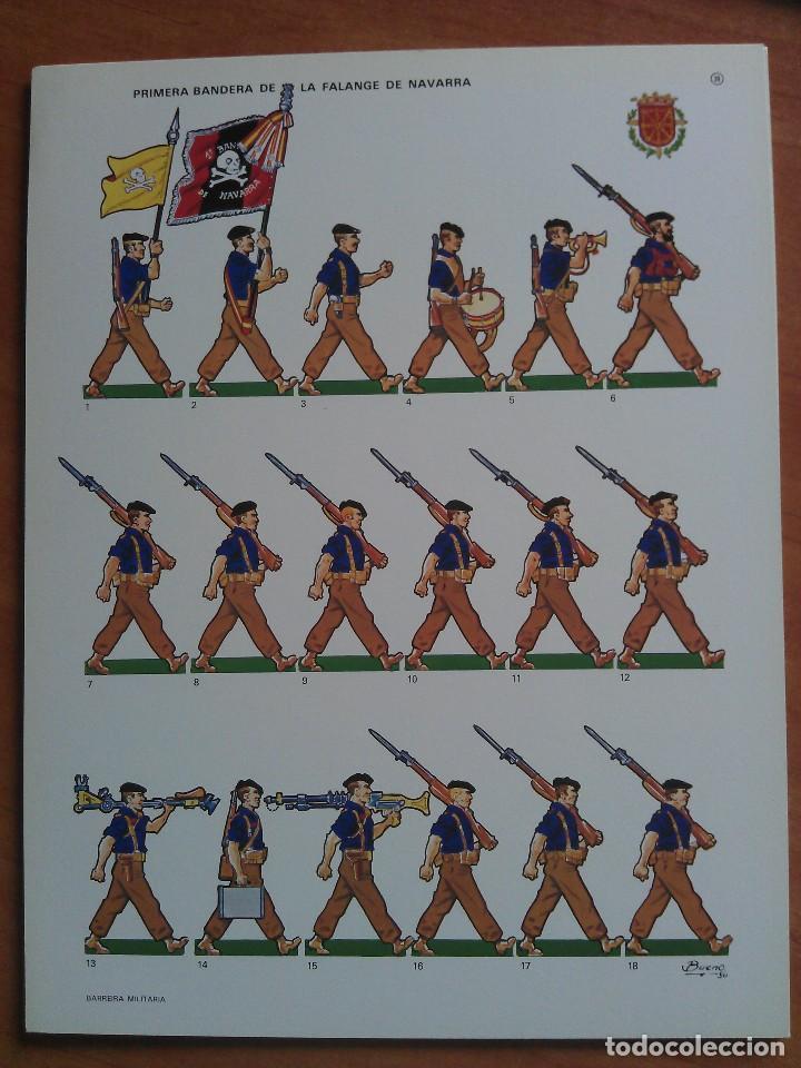 RECORTABLE PRIMERA BANDERA DE LA FALANGE DE NAVARRA (Coleccionismo - Recortables - Soldados)