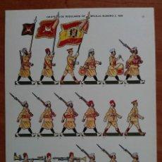 Coleccionismo Recortables: GRUPO DE REGULARES DE MELILLA NÚMERO 2 1939. Lote 161434094