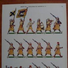 Coleccionismo Recortables: RECORTABLE GRUPO DE REGULARES DE LARACHE NÚMERO 4. Lote 161433085