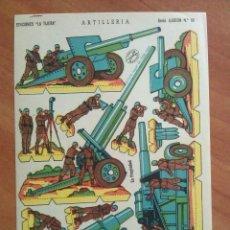 Coleccionismo Recortables: RECORTABLE ILUSIÓN : ARTILLERÍA - EDICIONES LA TIJERA. Lote 297038693