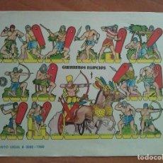 Coleccionismo Recortables: RECORTABLE GUERRERO EGIPCIOS - BRUGUERA 1960. Lote 217532553