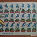 Coleccionismo Recortables: RECORTABLE REAL CUERPO DE ALABARDEROS ESPAÑA. Lote 160846526
