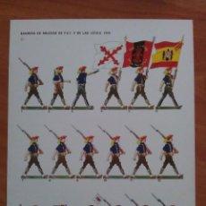 Coleccionismo Recortables: RECORTABLE BANDERA DE MILICIAS DE F.E.T Y DE LAS J.O.N.S. Lote 161589330