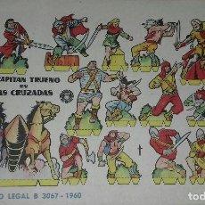 Coleccionismo Recortables: RECORTABLE. EL CAPITÁN TRUENO EN LAS CRUZADAS. ED.BRUGUERA 1960. Lote 166777064
