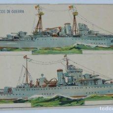 Coleccionismo Recortables: ANTIGUO RECORTABLE DE PAPEL PORTUGAL, BARCOS DE GUERRA, RICARDO FALCAO LX, LITO. COSTA &VALERIO, LI. Lote 170911420