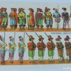 Coleccionismo Recortables: ANTIGUO RECORTABLE DE PAPEL PORTUGAL, EXERCITO PORTUGUES, SECULOS XVI A XVII, DIBUJANTE GARCES, SUP. Lote 170916095