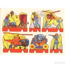 Coleccionismo Recortables: LAMINA RECORTABLES. ROSITA. EDITORIAL ROMA SERIE Nº 4. SOLDADOS. 17,5X12 CM. Lote 171496724