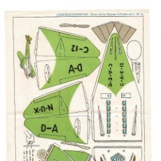 Coleccionismo Recortables: RECORTABLES CONSTRUCCIONES PEPI Nº 8 - SERIE BUQUES. AVIONES - EDITORIAL ROMA - MIDE 36 X 25CMS.. Lote 171499364