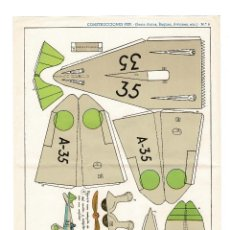 Coleccionismo Recortables: RECORTABLES CONSTRUCCIONES PEPI Nº 9- SERIE BUQUES. AVIONES - EDITORIAL ROMA - MIDE 36 X 25CMS.. Lote 171499410