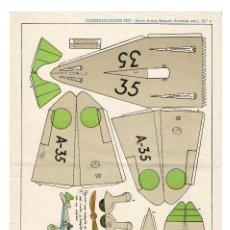 Coleccionismo Recortables: RECORTABLES CONSTRUCCIONES PEPI Nº 9 - SERIE BUQUES. AVIONES - EDITORIAL ROMA - MIDE 36 X 25CMS.. Lote 171499469