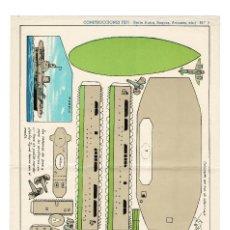 Coleccionismo Recortables: RECORTABLES CONSTRUCCIONES PEPI Nº 7 - SERIE BUQUES. AVIONES - EDITORIAL ROMA - MIDE 36 X 25CMS.. Lote 171499440