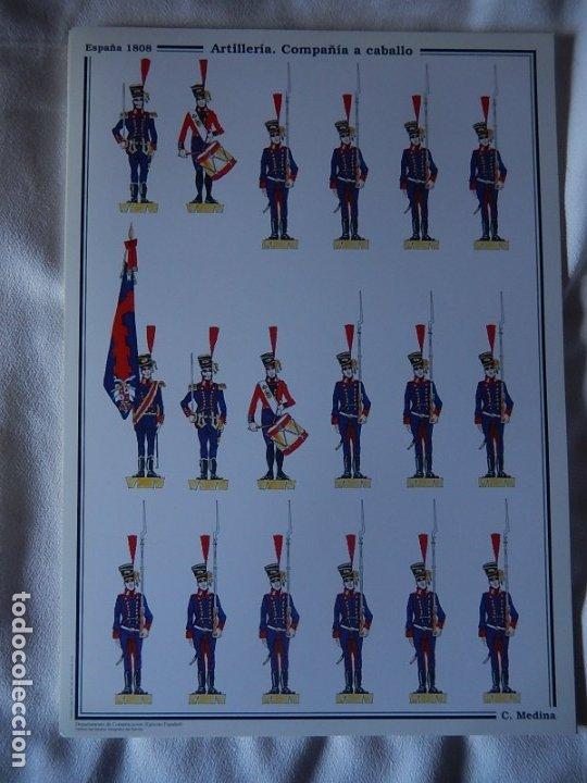 Coleccionismo Recortables: Recortables. España 1808. C. Medina. Departamento de comunicación (Ejército Español). 1998. - Foto 2 - 172409458