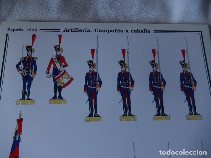 Coleccionismo Recortables: Recortables. España 1808. C. Medina. Departamento de comunicación (Ejército Español). 1998. - Foto 3 - 172409458