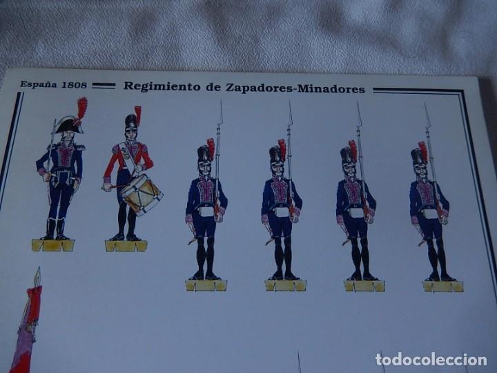 Coleccionismo Recortables: Recortables. España 1808. C. Medina. Departamento de comunicación (Ejército Español). 1998. - Foto 11 - 172409458