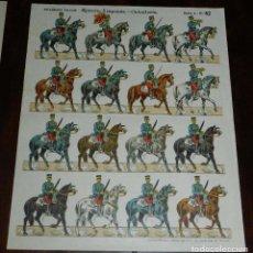 Coleccionismo Recortables: RECORTABLE PALUZIE, EJERCITO JAPONES, CABALLERIA, SERIE A, N. 82, ESTAMPERIA PALUZIE, MIDE 35 X 28 C. Lote 173549632