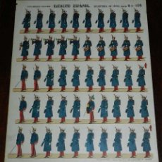Coleccionismo Recortables: RECORTABLE PALUZIE, EJERCITO ESPAÑOL. INFANTERIA DE LINEA, SERIE B, N. 106, ESTAMPERIA PALUZIE, MIDE. Lote 173550792