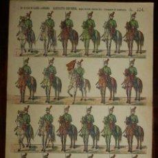 Coleccionismo Recortables: RECORTABLE PALUZIE, EJERCITO ESPAÑOL, DRAGONES DE LUSITANIA, SIGLO XVIII CARLOS III, Nº 334, LIT. D. Lote 173561122