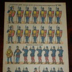 Coleccionismo Recortables: RECORTABLE PALUZIE, EDAD MEDIA, SIGLO XIV Y XV, REYES CATOLICOS, LANCEROS DE MESNADA SEÑORIAL, ESPIN. Lote 173565902