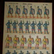 Coleccionismo Recortables: RECORTABLE PALUZIE, EPOCA GOTICA, SIGLO V AL VII LIBERTOS ARMADOS DE TODAS ARMAS, SIGLO VIII AL IX, . Lote 173566069