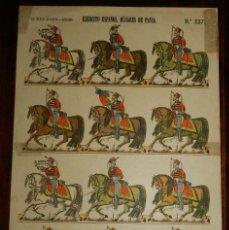Coleccionismo Recortables: RECORTABLE LIT. HIJOS DE PALUZIE, EJERCITO ESPAÑOL. HUSARES DE PAVIA. N. 237, MIDE 41 X 28,5 CMS. AP. Lote 173616487