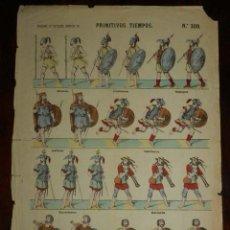 Coleccionismo Recortables: RECORTABLE ESTAMPERIA LIT. DE PALUZIE, PRIMITIVOS TIEMPOS. N. 300, BETICOS, LUSITANOS, GALLEGOS, AST. Lote 173622042