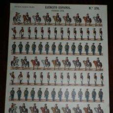 Coleccionismo Recortables: RECORTABLE ESTAMPERIA ECONOMICA PALUZIE, EJERCITO ESPAÑOL, GUARDIA CIVIL, N. 276, MIDE 38 X 28 CMS.. Lote 173622472