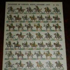 Coleccionismo Recortables: RECORTABLE ESTAMPERIA ECONOMICA PALUZIE, CAZADORES EN CAMPAÑA. NUEVO UNIFORME 1927, Nº 274, MIDE 38 . Lote 173623087