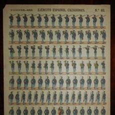 Coleccionismo Recortables: RECORTABLE PALUZIE, EJERCITO ESPAÑOL, CAZADORES, Nº 83, LIT. HIJOS DE PALUZIE, MIDE 41 X 28,5 CMS. A. Lote 173625053