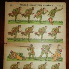 Coleccionismo Recortables: RECORTABLE DE MELILLA-INFANTERIA ESPAÑOLA, LETRA A. EDITADOS POR VD, AÑOS 1920. MIDE 40 X 30 CM. EST. Lote 173628049