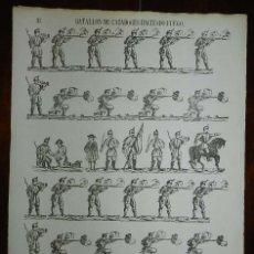 Coleccionismo Recortables: ALELUYA / AUCA, RECORTABLE DEL BATALLON DE CAZADORES HACIENDO FUEGO (Nº 34 B). VENTA CASA ANTONIO BO. Lote 173685645