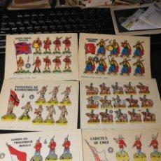 Coleccionismo Recortables: LOTE DE RECORTABLES SOLDADOS. 1960. Lote 174637573