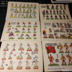Coleccionismo Recortables: LOTE DE RECORTABLES SOLDADOS 1960-61. Lote 174638839
