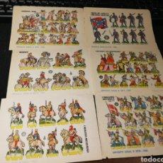 Coleccionismo Recortables: LOTE DE RECORTABLES SOLDADOS 1960. Lote 174640354