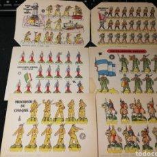 Coleccionismo Recortables: LOTE DE RECORTABLES SOLDADOS 1960. Lote 174641050