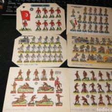 Coleccionismo Recortables: LOTE DE RECORTABLES SOLDADOS. Lote 174642689