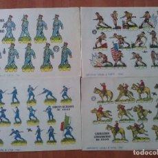 Coleccionismo Recortables: 10 RECORTABLES MILITARES - BRUGUERA - DIVERSOS. Lote 180466332