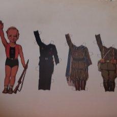 Coleccionismo Recortables: ANTIGUO RECORTABLE DE NIÑO FALANGISTA. Lote 175285438