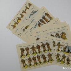 Coleccionismo Recortables: RECORTABLES LA TIJERA - SERIE MILITAR LILIPUT - 1959 COMPLETA 16 RECORTABLES - LÁMINA 13X18 APRÓX.. Lote 175545352