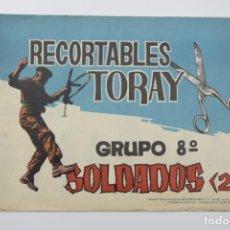 Coleccionismo Recortables: RECORTABLES TORAY - GRUPO 8 SOLDADOS 2º AÑO 1962 - 8 LÁMINAS. Lote 175627569