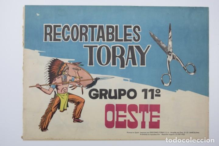 RECORTABLES TORAY - GRUPO 11 OESTE 2º AÑO 1962 - 8 LÁMINAS (Coleccionismo - Recortables - Soldados)