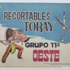 Coleccionismo Recortables: RECORTABLES TORAY - GRUPO 11 OESTE 2º AÑO 1962 - 8 LÁMINAS. Lote 175627647