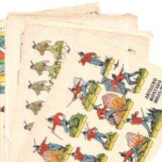 Coleccionismo Recortables: LOTE DE 8 RECORTABLES. EDICIONES LA TIJERA. VER FOTOS. MEDIDAS : 25 X 8 CM APROX.. Lote 175654722