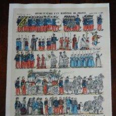 Coleccionismo Recortables: ANTIGUO RECORTABLE CONVOI FUNEBRE D´UN MARECHAL DE FRANCE, PELLERIN & CIE, IMAGERIE D´EPINAL, N. 260. Lote 175721635
