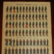 Coleccionismo Recortables: ANTIGUO RECORTABLE TIRAILLEURS ANNAMITES, CIPAYES DE L´INDE, PELLERIN & CIE., IMAGERIE D´EPINAL, N. . Lote 175722154
