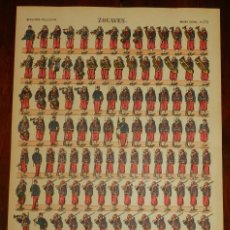 Coleccionismo Recortables: ANTIGUO RECORTABLE ZOUAVES, IMAGERIE PELLERIN, IMAGERIE D´EPINAL, N. 273. AÑOS 1910 APROX. MIDE 40,5. Lote 175722399
