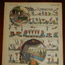 Coleccionismo Recortables: ANTIGUO RECORTABLE FETE DE GYMNASTIQUE, IMAGERIE PELLERIN, IMAGERIE D´EPINAL, N. 306. AÑOS 1910 APRO. Lote 175909919
