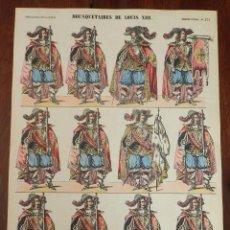 Coleccionismo Recortables: ANTIGUO RECORTABLE MOUSQUETAIRES DE LOUIS XIII, MOSQUETEROS, IMAGERIE PELLERIN, IMAGERIE D´EPINAL, N. Lote 175910567