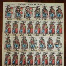 Coleccionismo Recortables: ANTIGUO RECORTABLE MOUSQUETAIRES DE LOUIS XIII, MOSQUETEROS, IMAGERIE PELLERIN, IMAGERIE D´EPINAL, N. Lote 175910627